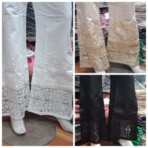 Fancy Stitched Star Bell Bottom Trouser