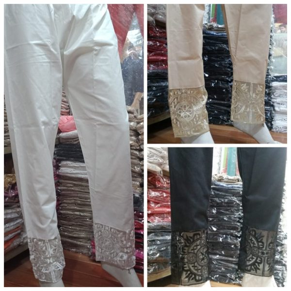 Fancy Cotton Embroidered Trouser