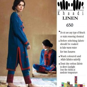 Khaadi Winter Linen Embroidered Collection