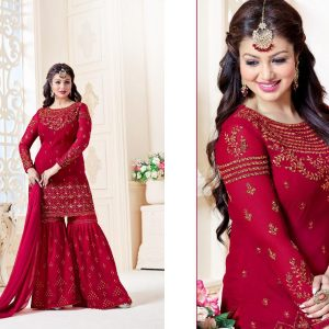 Indian Semi Stitched Embroidered Dress