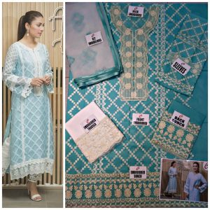 Ayeza Khan Embroidered Cotton
