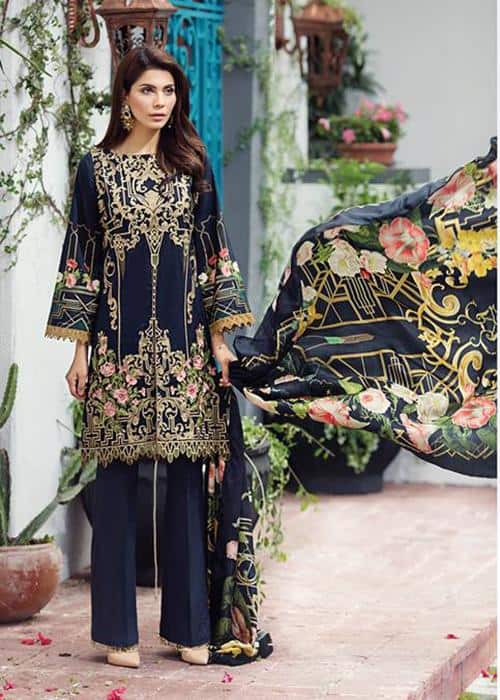 Barooque Embroidered Lawn Dress
