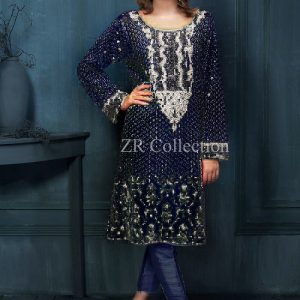 Ayesha Blue Chiffon Dress