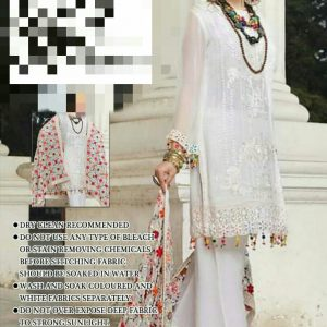 Fancy Phulkari Chiffon Dress